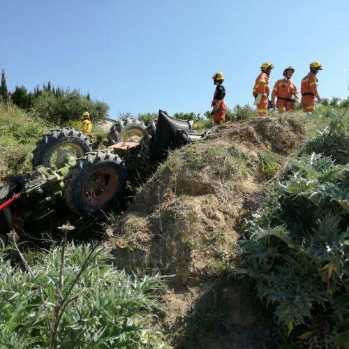 Mor un home al bolcar el seu tractor a Bèlgida