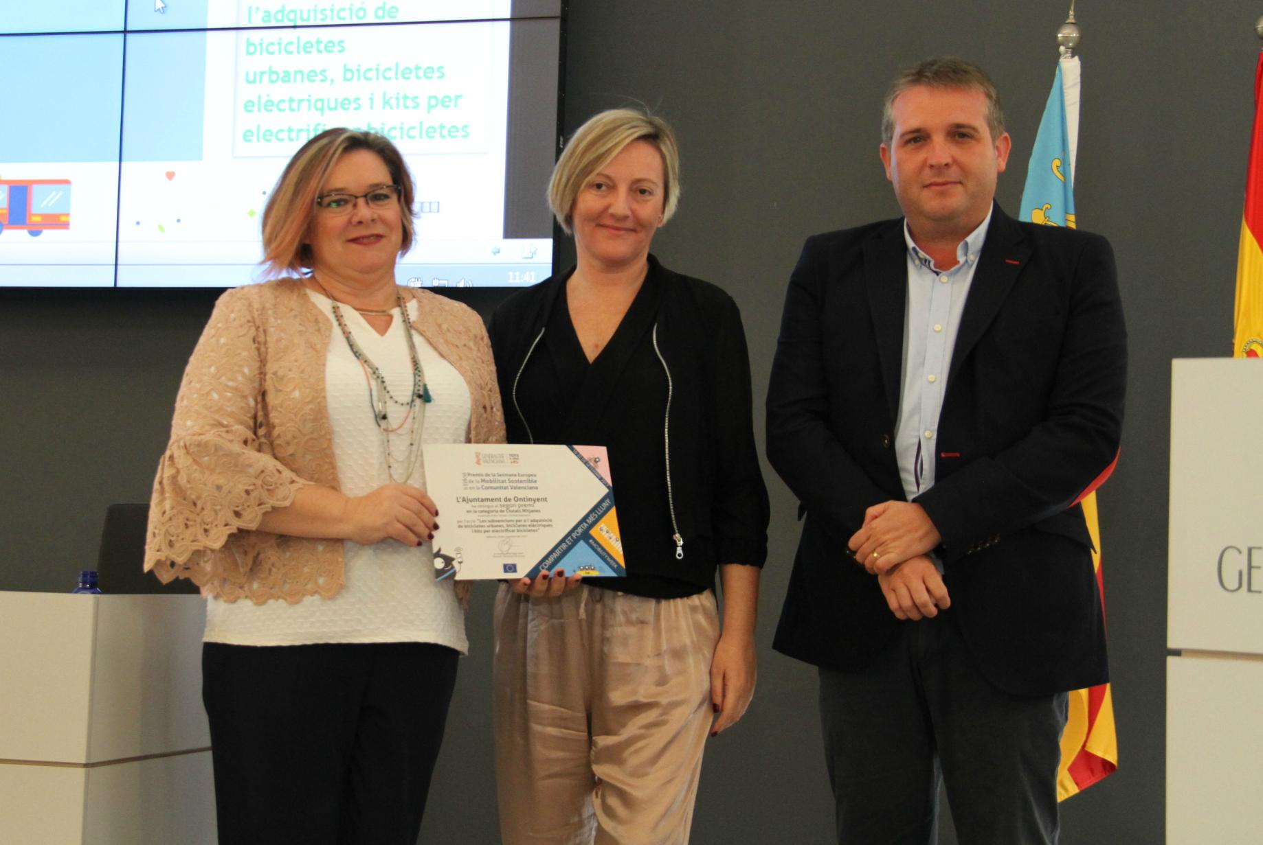 Premi a Ontinyent per fomentar la mobilitat sostenible El Periòdic d'Ontinyent