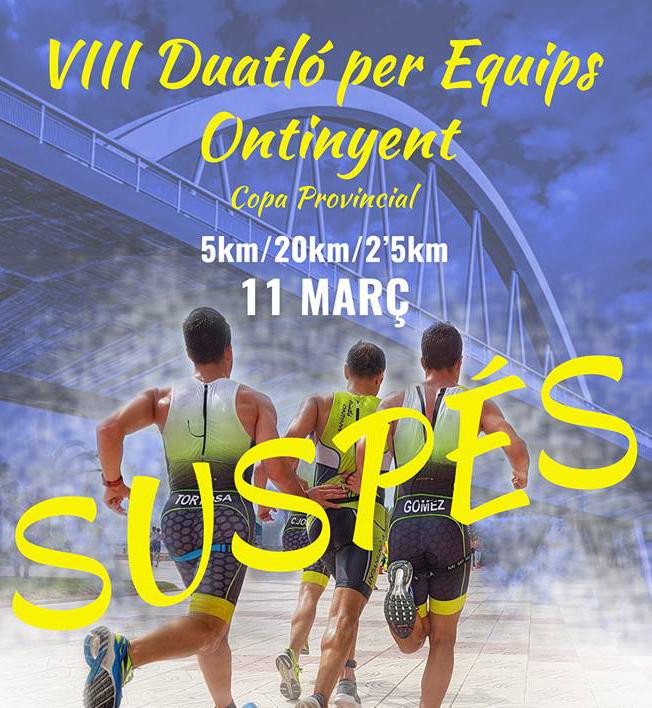 El Club Triatló d'Ontinyent suspén el Duatló per Equips El Periòdic d'Ontinyent - Noticies a Ontinyent