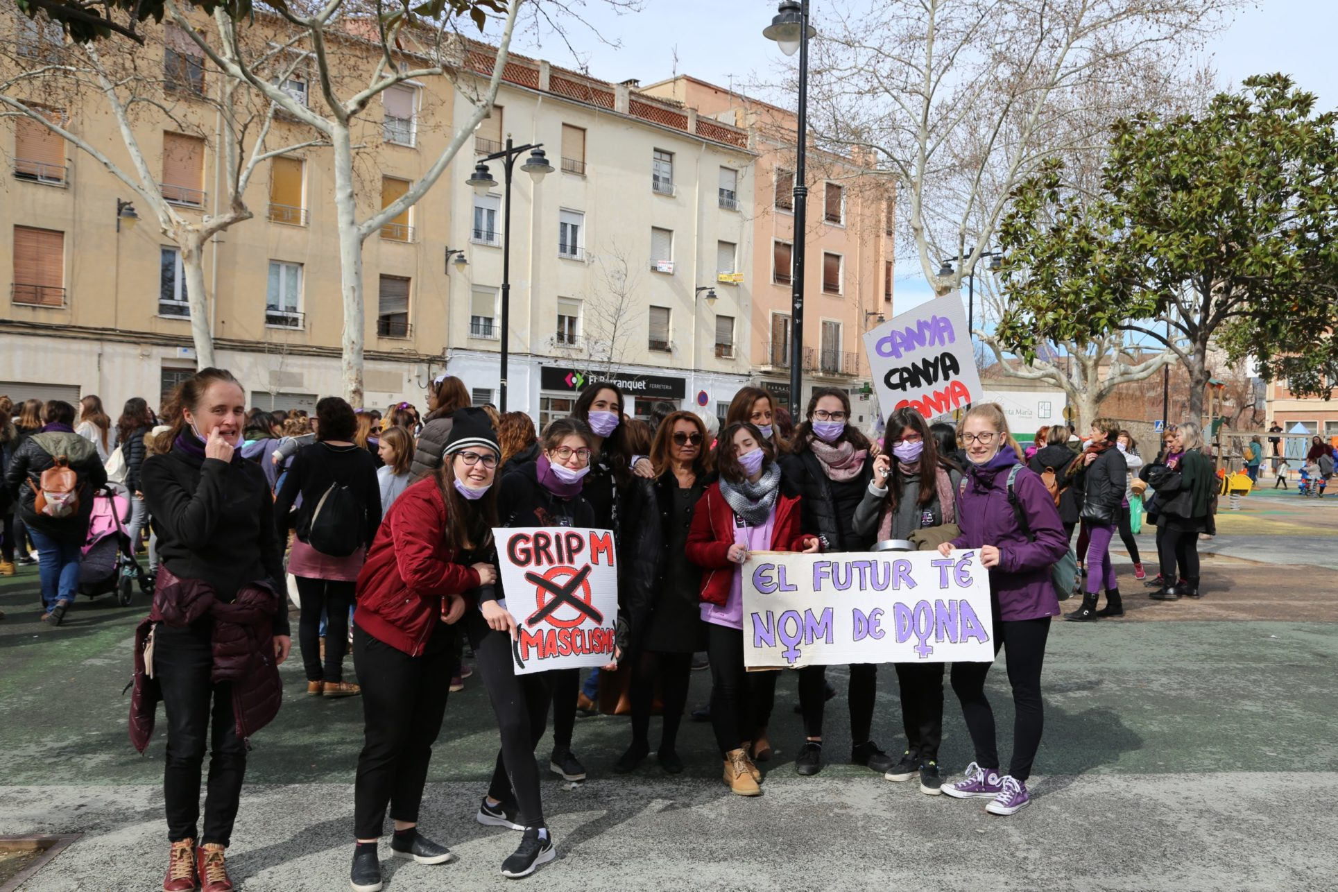 Les dones d'Ontinyent reivindiquen el seus drets en la Vaga Feminista El Periòdic d'Ontinyent