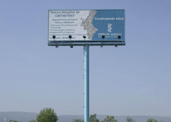 Piden que el cartel donde no se construirá el Hospital sea declarado Bien de Interés Cultural El Periòdic d'Ontinyent