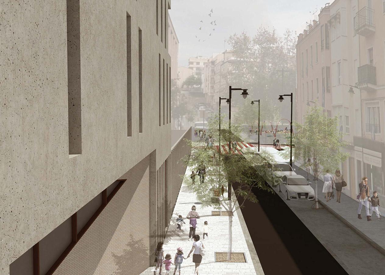 El nuevo Centro: tres plantas con huerto escolar en la azotea El Periòdic d'Ontinyent