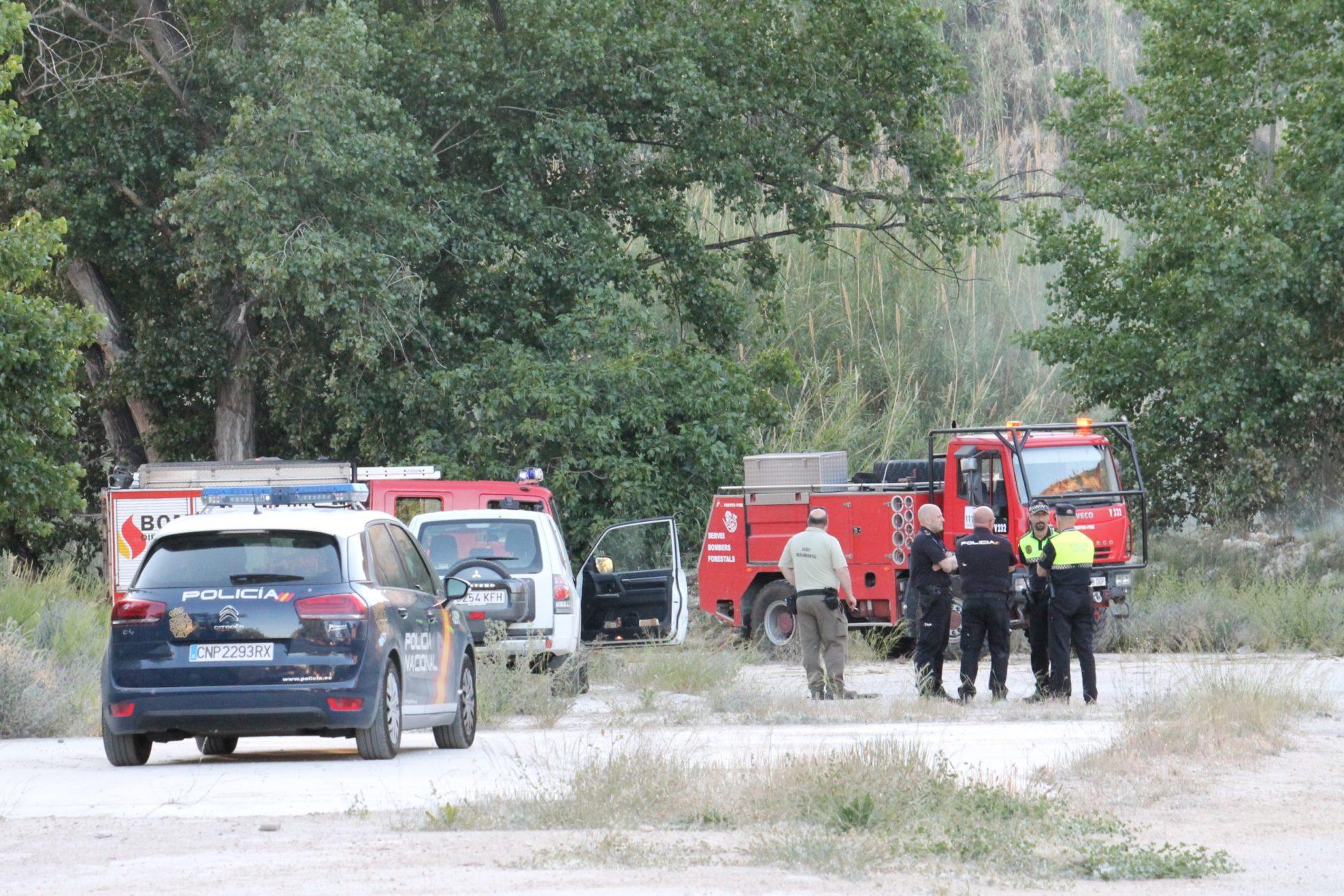 Els dispositius mobilitzats han aturat el foc ràpidament El Periòdic d'Ontinyent