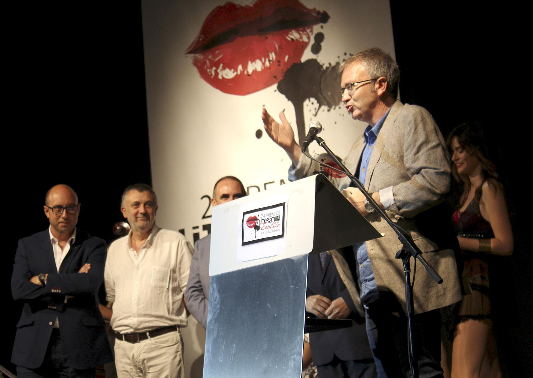 Jordi Portals guanya el 24 Premi de Literatura Eròtica El Periòdic d'Ontinyent