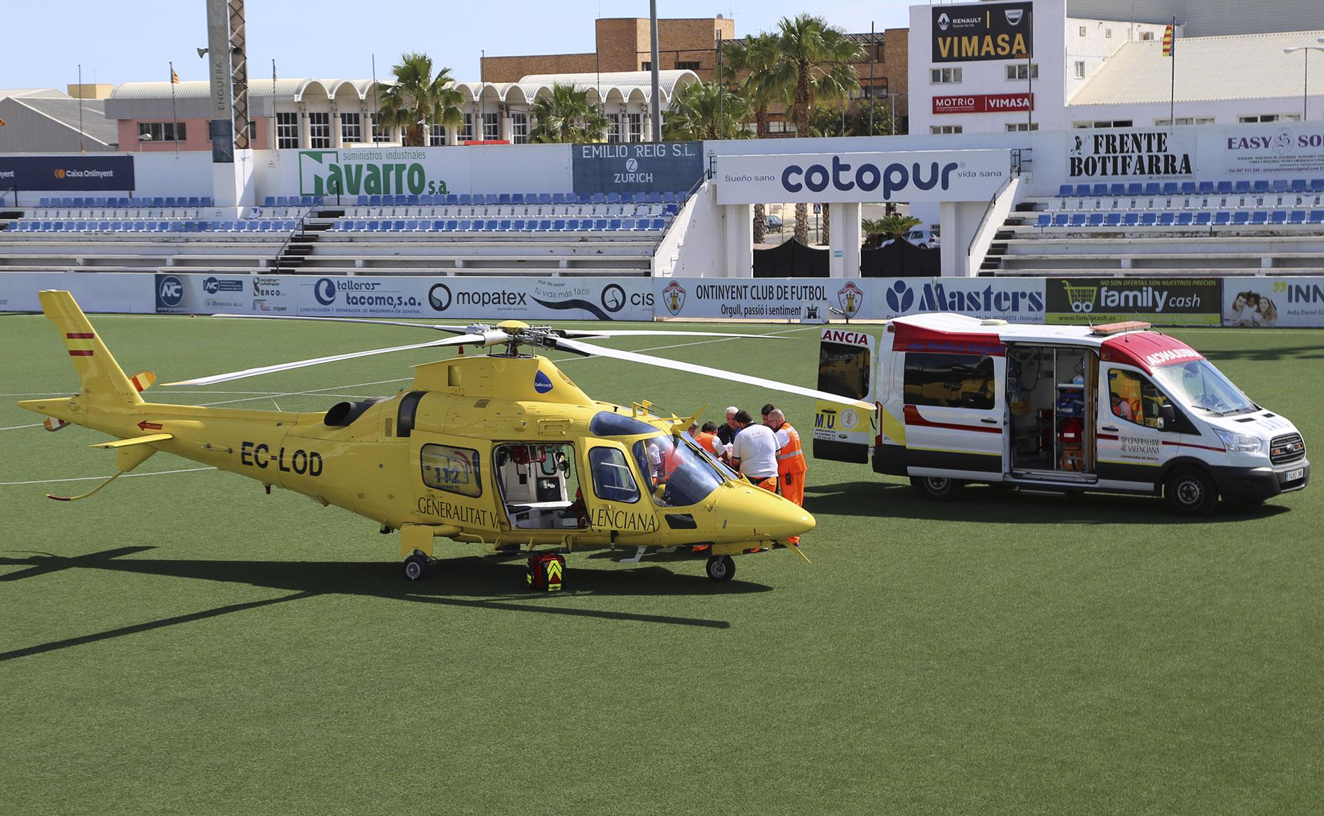 Traslladen d'urgència en helicòpter a un home accidentat El Periòdic d'Ontinyent