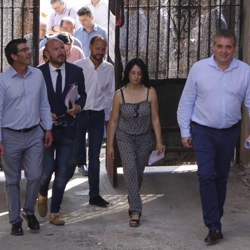 El president de la Diputació visita les obres del Museu del Tèxtil