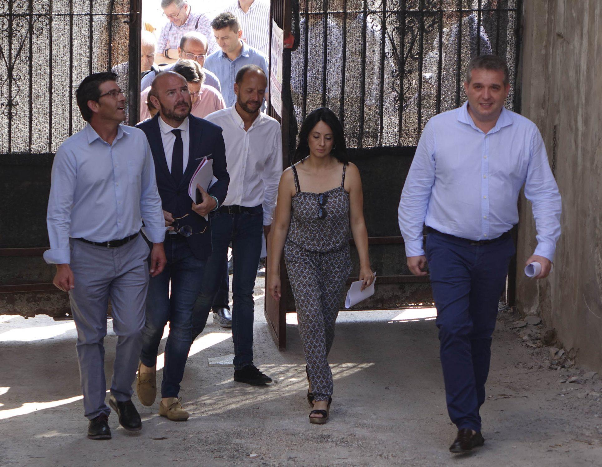 El president de la Diputació visita les obres del Museu del Tèxtil El Periòdic d'Ontinyent