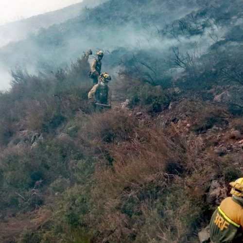 El foc arriba a Quatretonda i el vent serà decisiu en les pròximes hores