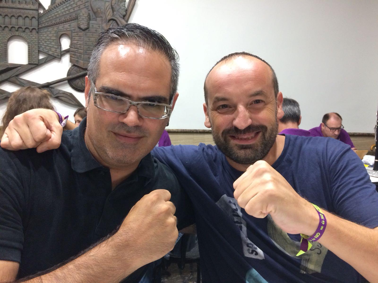 Rubén Montava i Vicent X. Vila, Ambaixador i Banderer Cristians 2019 El Periòdic d'Ontinyent