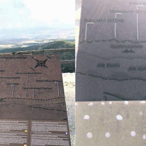Destrossen els panells informatius de l'ermita de Sant Esteve