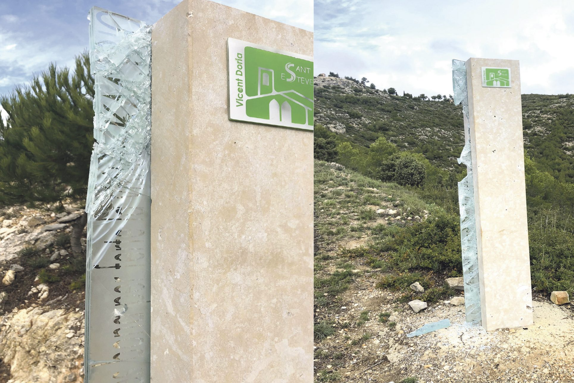 El vandalisme s'acarnissa amb els monòlits de Sant Esteve El Periòdic d'Ontinyent