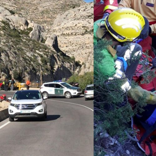 Dos accidents, als voltants d'Ontinyent, a la mateixa hora