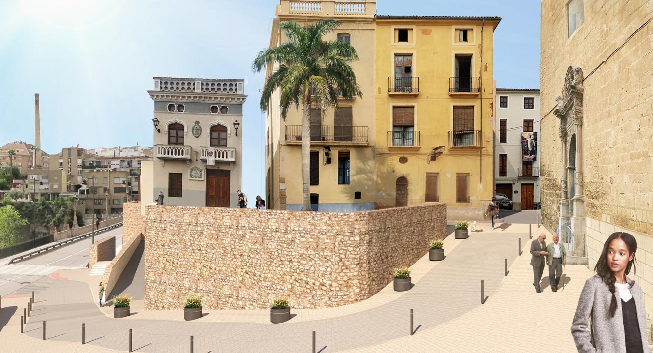 Pujada a la Vila: calçada única i el mur de pedra renovat El Periòdic d'Ontinyent - Noticies a Ontinyent