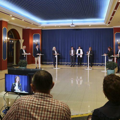L'únic cara a cara entre els 6 candidats a l'alcaldia