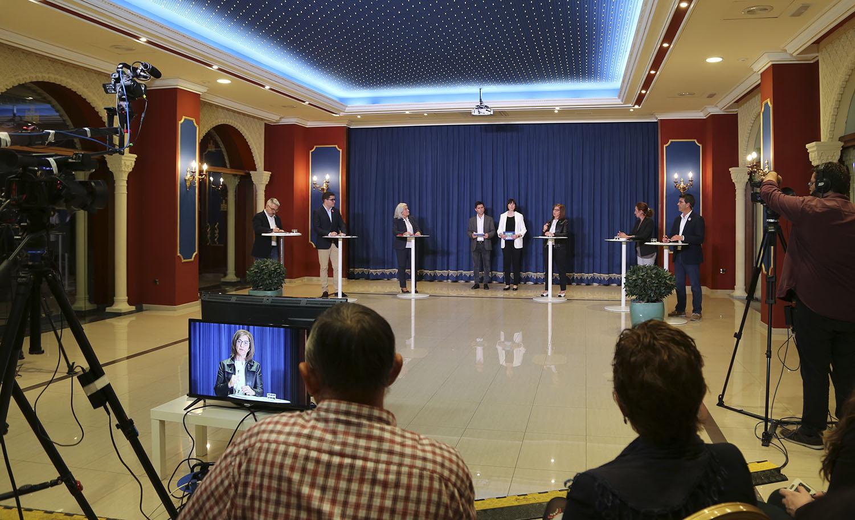 L'únic cara a cara entre els 6 candidats a l'alcaldia El Periòdic d'Ontinyent