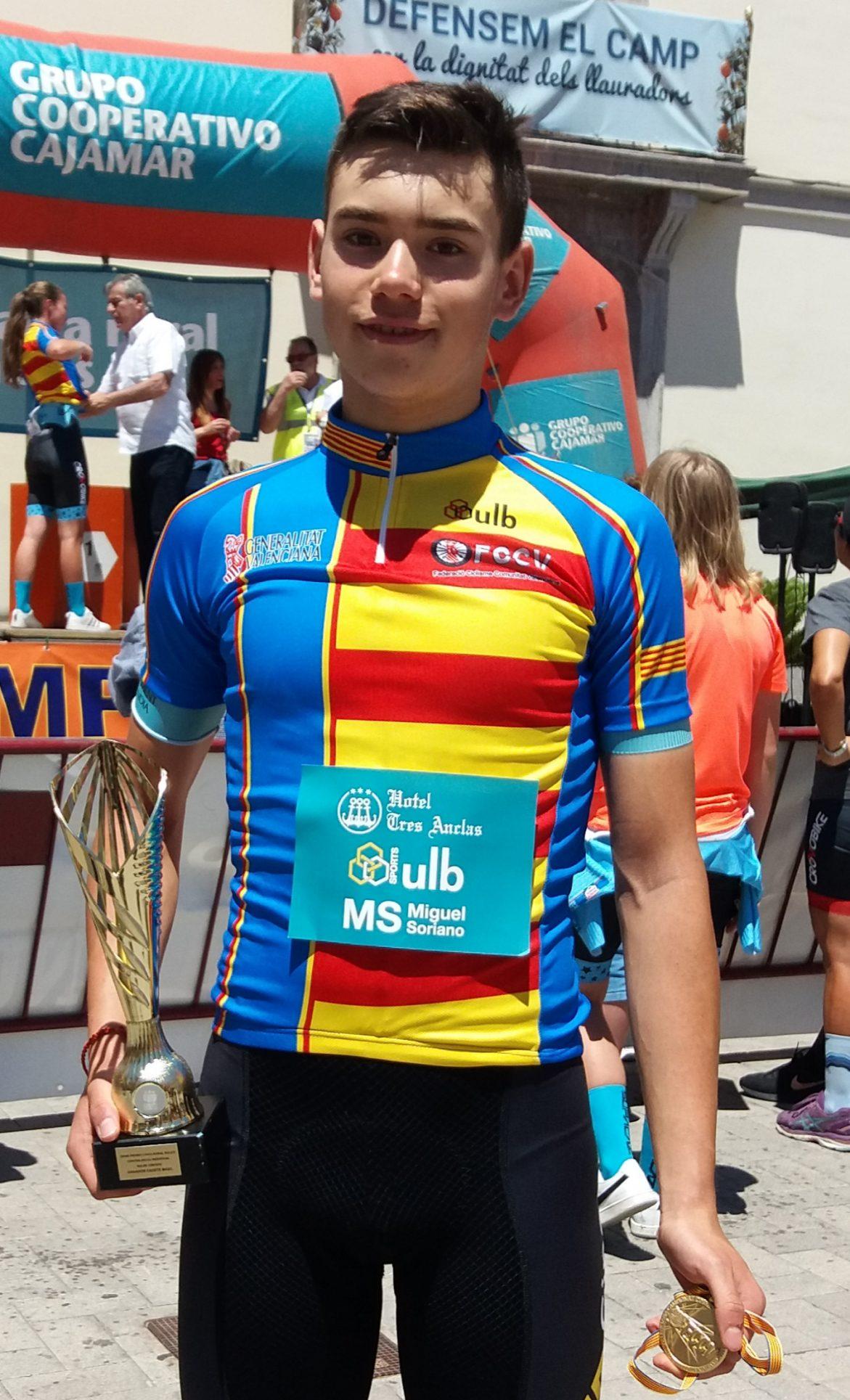 José Sanz, campió autonòmic contrarellotge El Periòdic d'Ontinyent