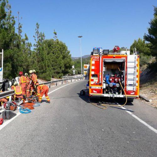Accident mortal en l'autovia, a l'altura d'Albaida