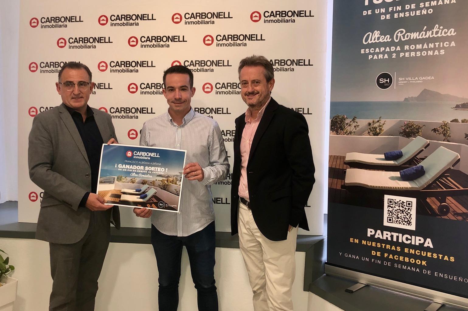 Francisco Albiñana guanya el sorteig de la 'Inmobiliaria Carbonell' El Periòdic d'Ontinyent
