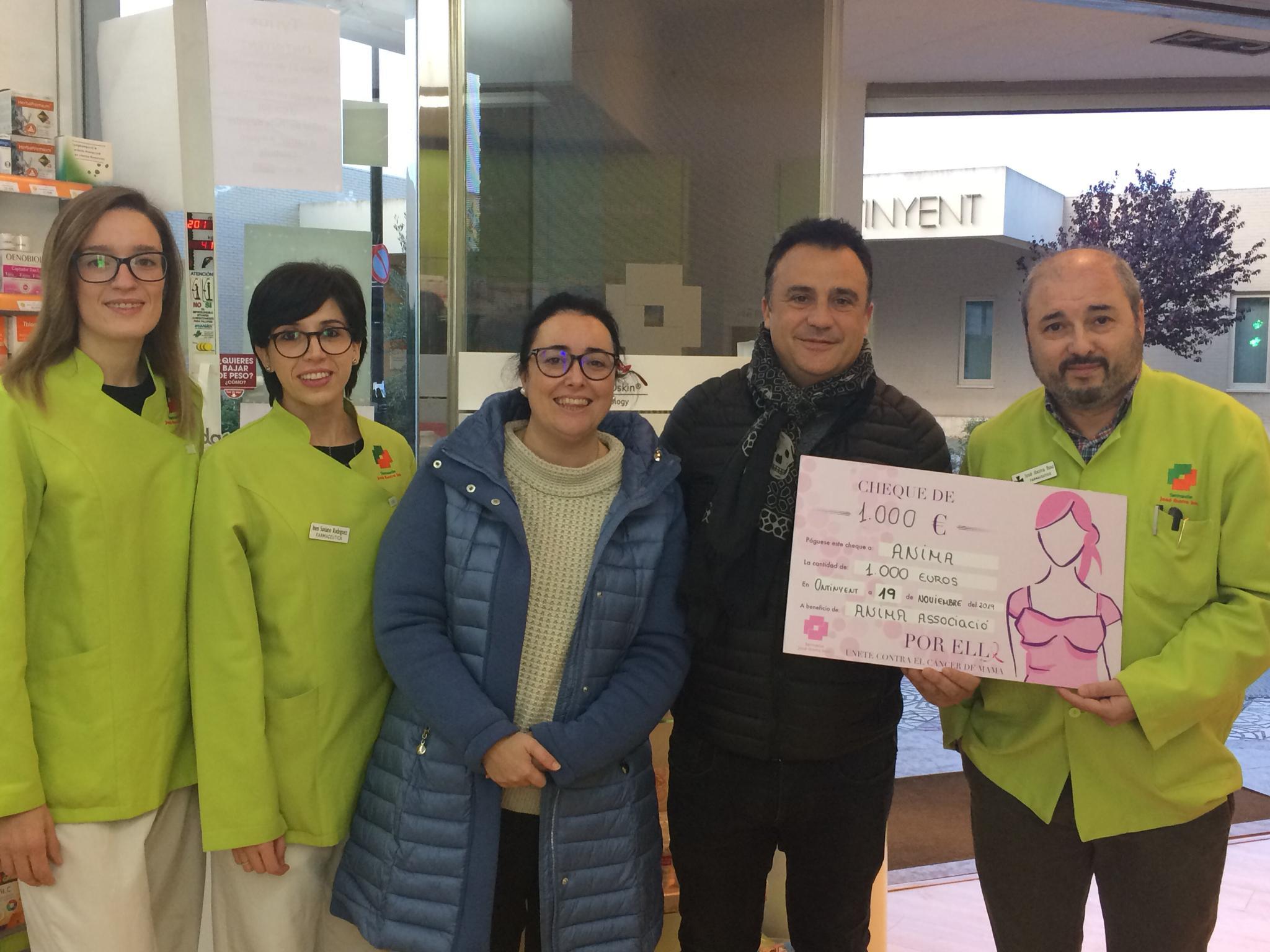 1.000 euros solidaris per a la lluita contra el càncer d'Anima El Periòdic d'Ontinyent