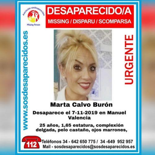 El dispositiu de recerca de Marta Calvo s'amplia a l'Olleria