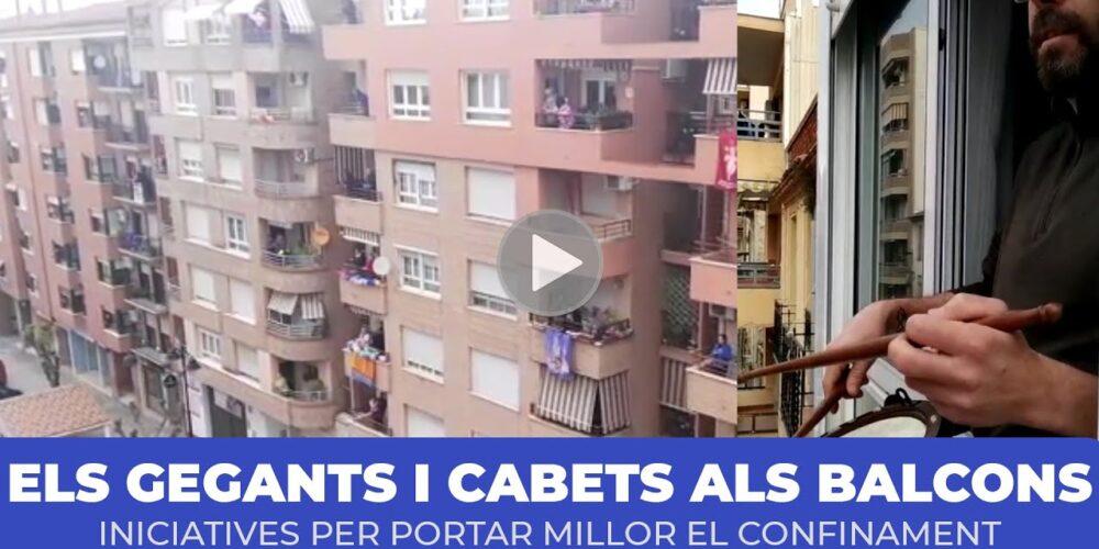 La música dels Gegants i Cabets als balcons