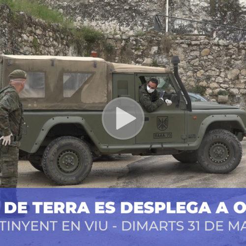 Un destacament militar reforça la seguretat a Ontinyent