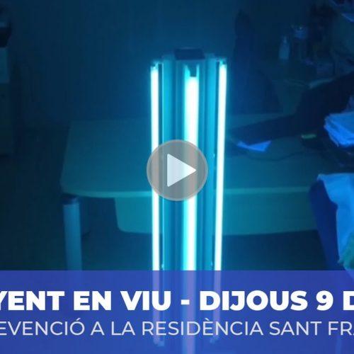 Ondes ultraviolades per desinfectar Sant Francesc