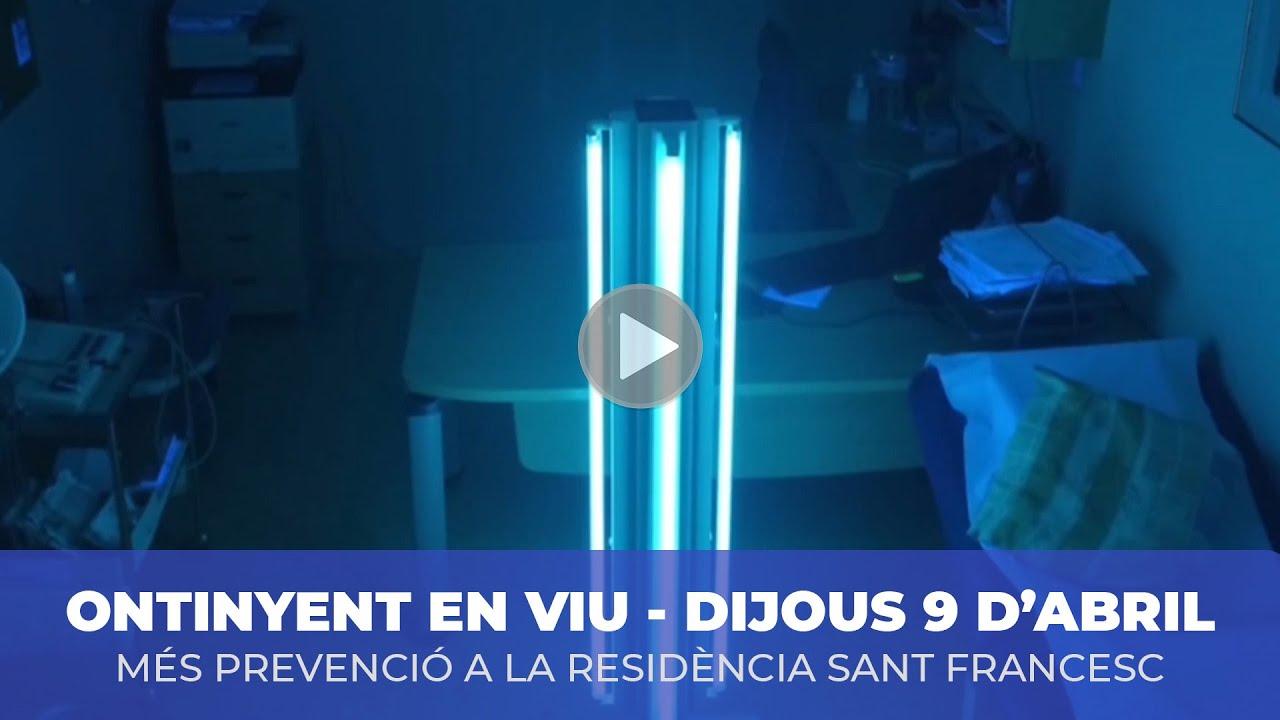 Ondes ultraviolades per desinfectar Sant Francesc El Periòdic d'Ontinyent