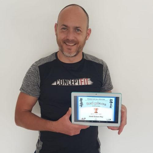 Jordi Gisbert queda tercer al campionat en línea de karate