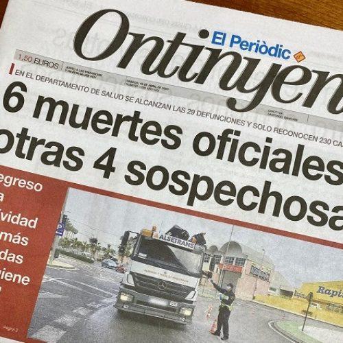 Conselleria confirma les dades que ja avançava El Periòdic d'Ontinyent en abril: 6 morts