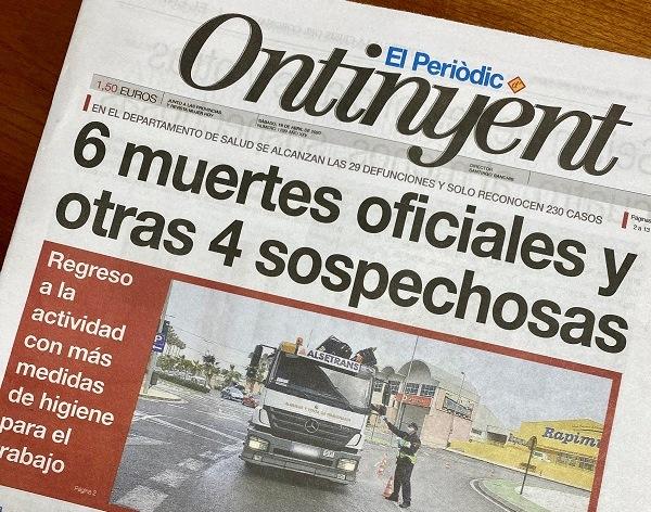 Conselleria confirma les dades que ja avançava El Periòdic d'Ontinyent en abril: 6 morts El Periòdic d'Ontinyent