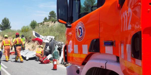 Dos accidents greus a les carreteres de Fontanars i El Palomar