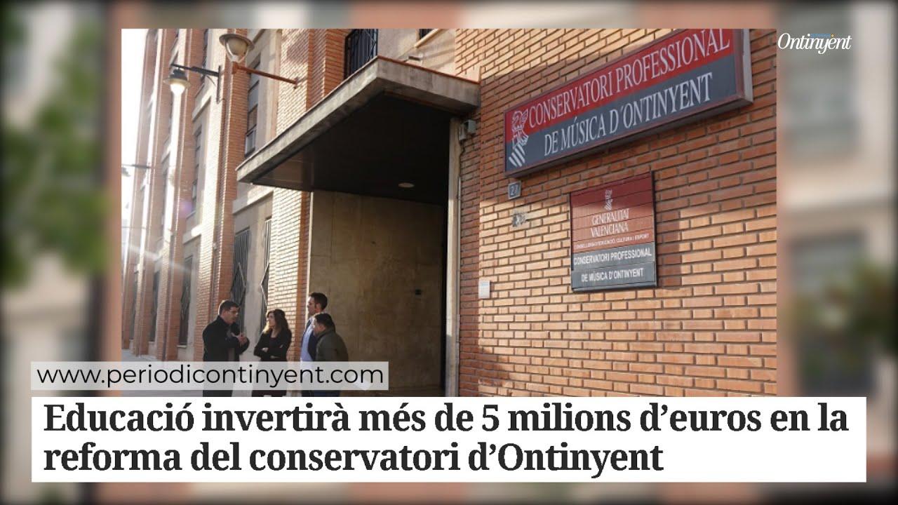 Ontinyent en viu -  Reforma al Conservatori d'Ontinyent El Periòdic d'Ontinyent