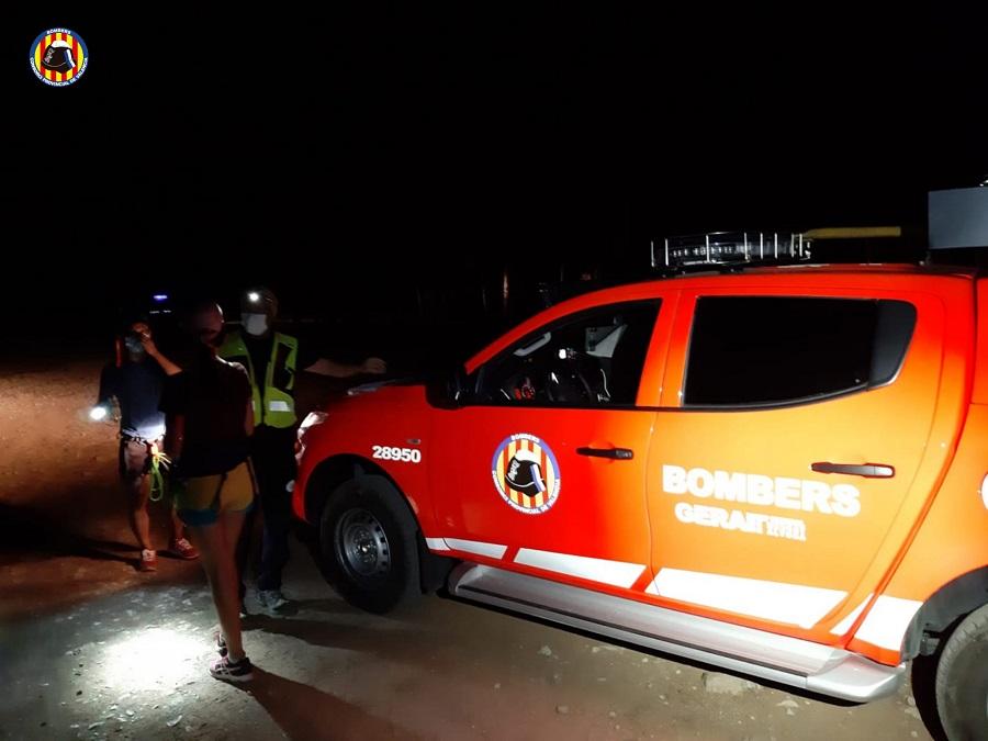 Els Bombers rescaten a dos senderistes El Periòdic d'Ontinyent