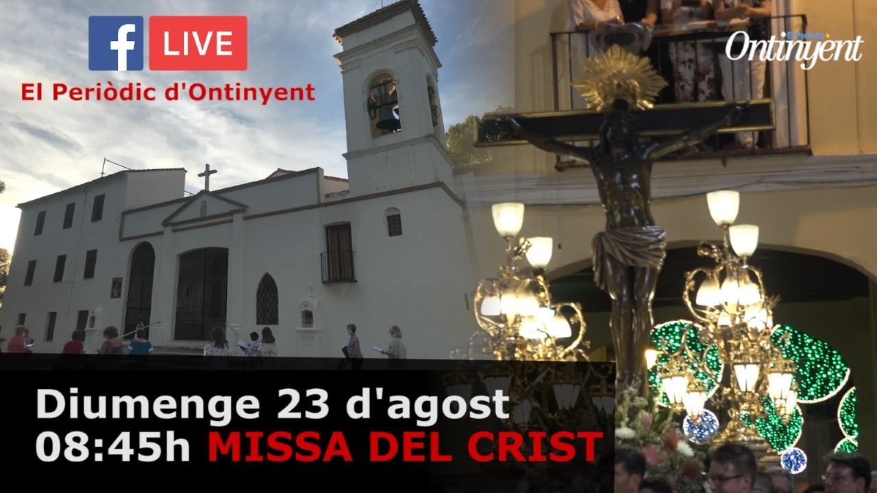 Missa del Crist, diumenge matí, en directe a través de El Periòdic d'Ontinyent El Periòdic d'Ontinyent