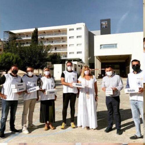 El Rotary Club d'Ontinyent distribueix 11.000 mascaretes entre els centres escolars