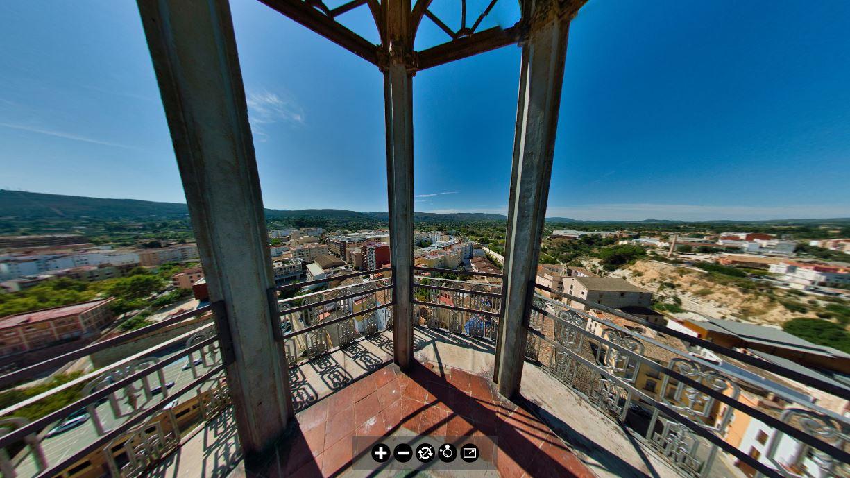 Visita virtual des de dalt del Campanar de la Vila El Periòdic d'Ontinyent