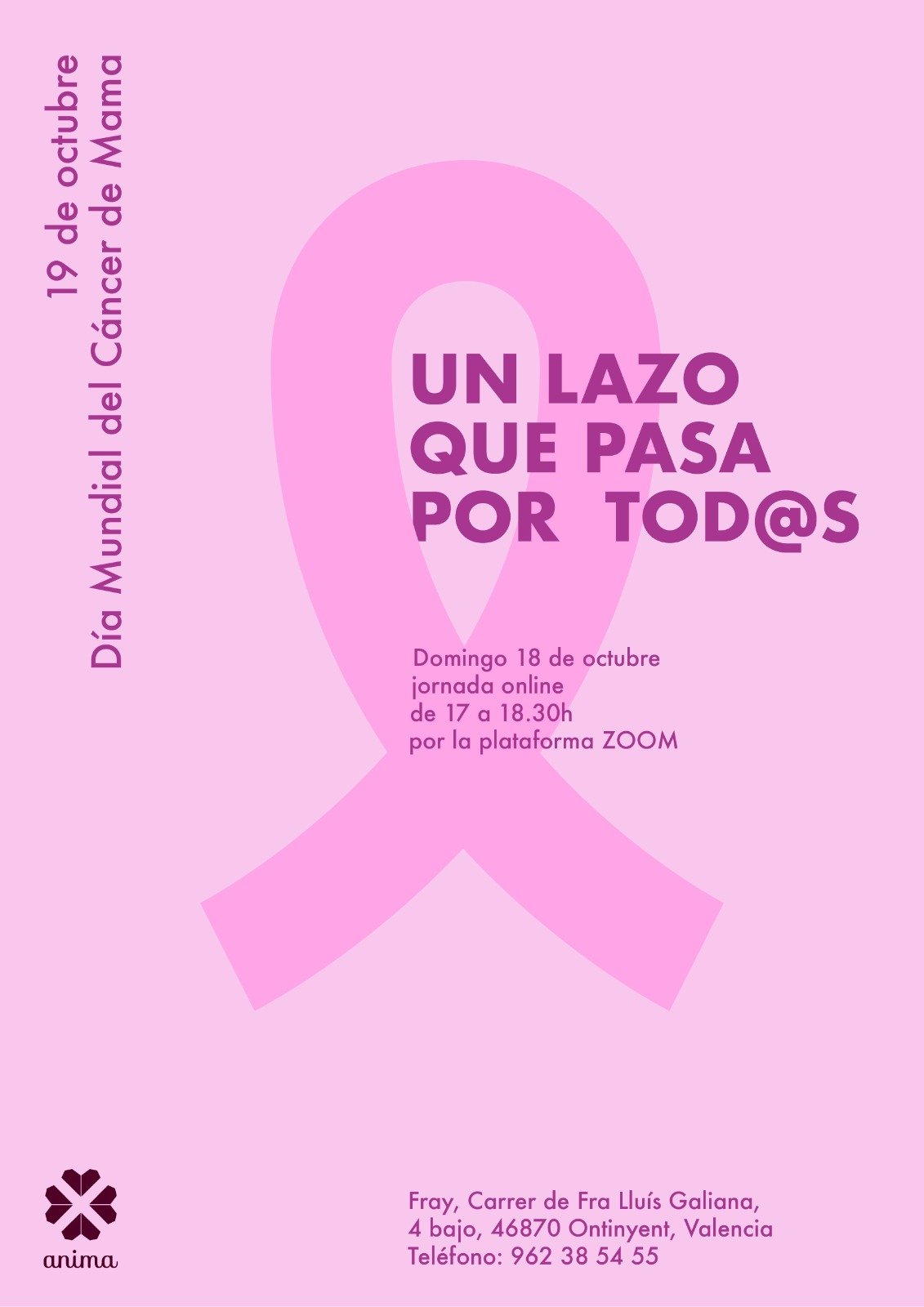ANIMA celebra de manera on-line el Dia Internacional del Càncer de Mama El Periòdic d'Ontinyent