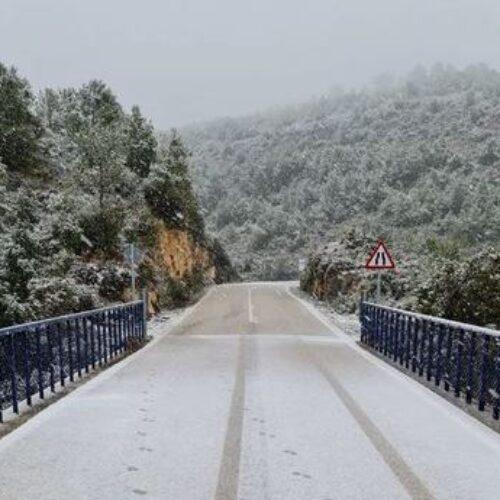 Comença a nevar al voltant d'Ontinyent