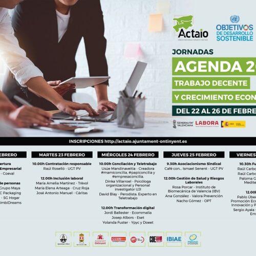 ACTAIO impulsarà el treball decent i el creixement econòmic establert per l'Agenda 2030