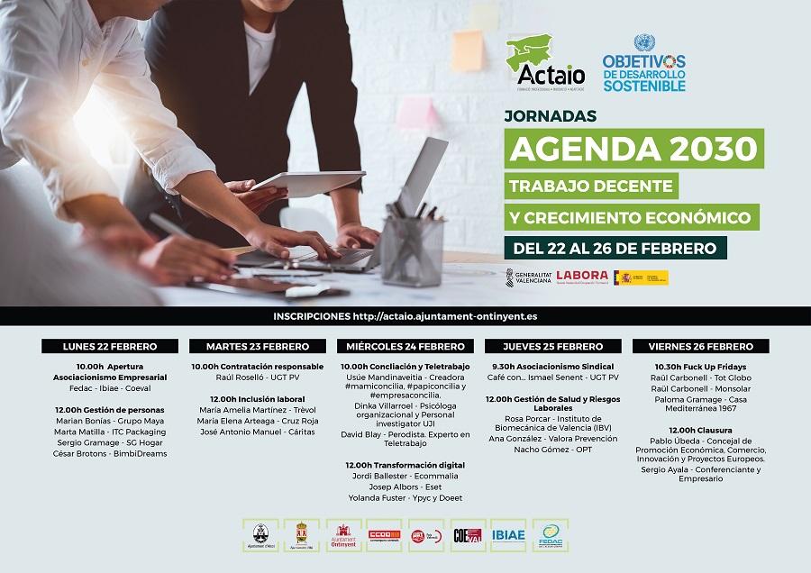 ACTAIO impulsarà el treball decent i el creixement econòmic establert per l'Agenda 2030 El Periòdic d'Ontinyent - Noticies a Ontinyent