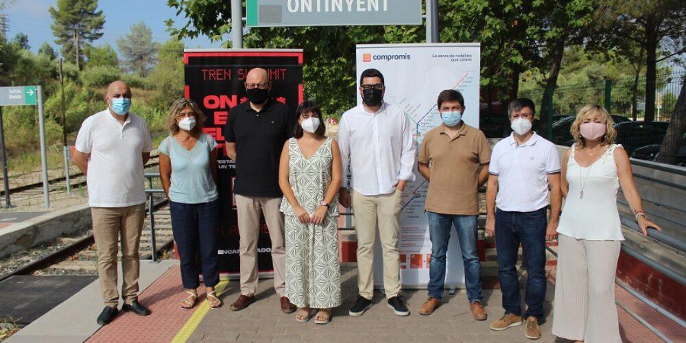 La campanya 'On està el meu tren?' de Compromís arriba a Ontinyent i la Vall d'Albaida