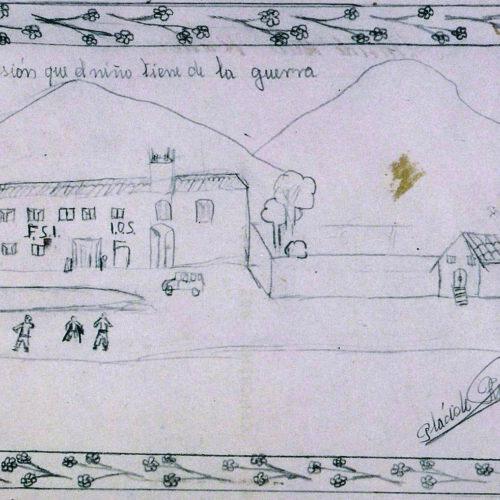 Els dibuixos dels xiquets de la guerra civil, testimoni fidel de la història