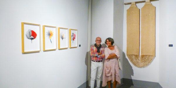 Cesc Biosca viatja amb la seua obra fins a una exposició d'art tèxtil a Granada