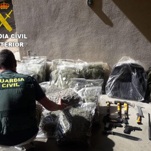 La Guàrdia Civil d'Ontinyent deté a dues dones per posseir 600 plantes de marihuana